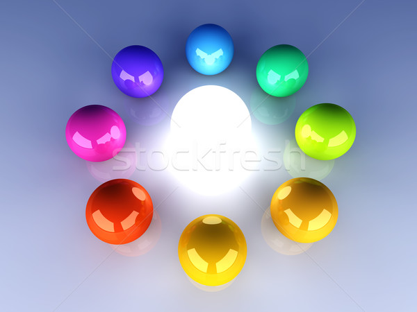 Enlightened Color wheel Stock photo © Spectral