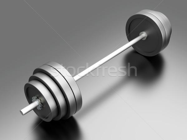 Gewichten sport 3D gerenderd illustratie Stockfoto © Spectral