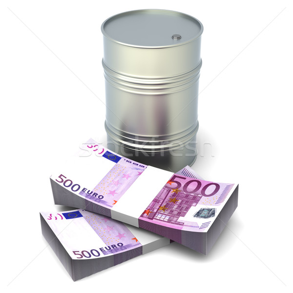 Euro olie 3D gerenderd illustratie geïsoleerd Stockfoto © Spectral