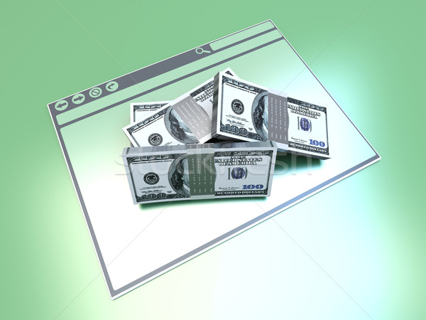 финансовых браузер долларов окна 3D оказанный Сток-фото © Spectral