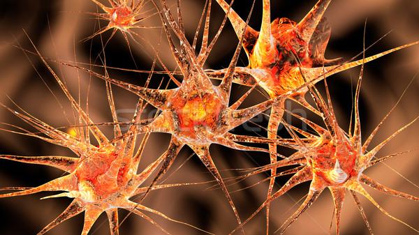 Réseau 3d illustration cerveau énergie microscope cellule Photo stock © Spectral