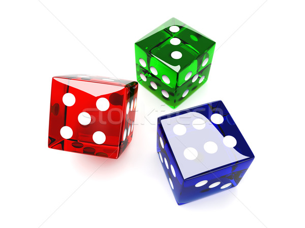 Colored Dices Stock photo © Spectral