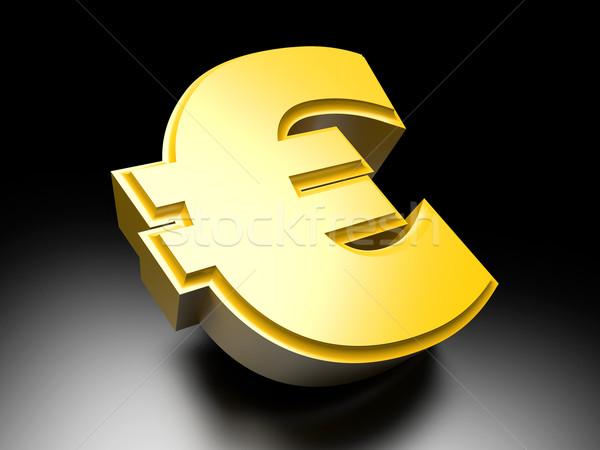 Euro geld symbool 3D gerenderd illustratie Stockfoto © Spectral