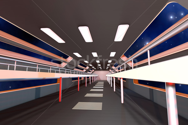 Spazio stazione interni 3D architettura costruzione Foto d'archivio © Spectral