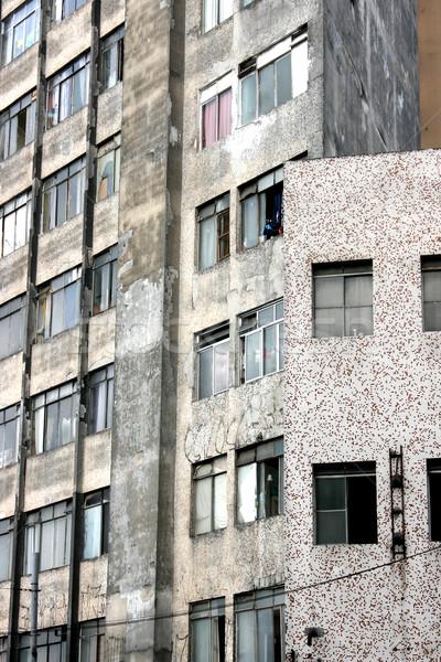Homlokzat Sao Paulo épület szegény környék központ Stock fotó © Spectral