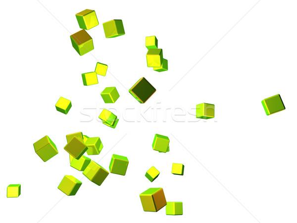 Resumen 3D prestados aislado blanco gráfico Foto stock © Spectral