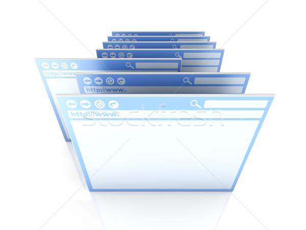 Gekozen browser venster 3D gerenderd illustratie Stockfoto © Spectral