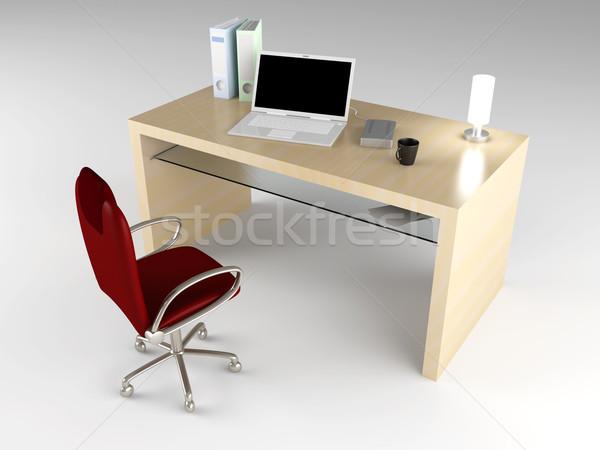 Сток-фото: месте · служба · 3D · оказанный · иллюстрация · бумаги