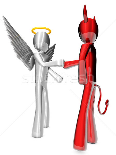 Angel and Devil agreement  Stock photo © Spectral