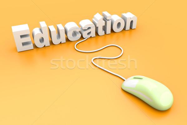 Educação on-line 3D prestados ilustração computador Foto stock © Spectral