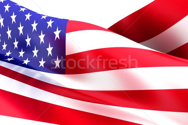 Bayrak ABD 3D render örnek arka plan Stok fotoğraf © Spectral