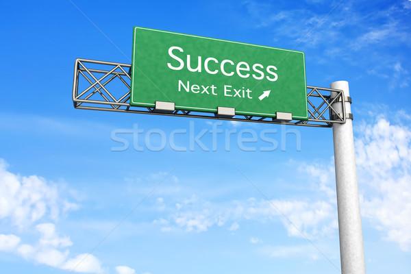 шоссе знак успех 3D оказанный иллюстрация следующий Сток-фото © Spectral