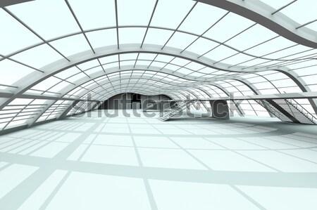 Corridoio architettura 3D reso illustrazione ufficio Foto d'archivio © Spectral