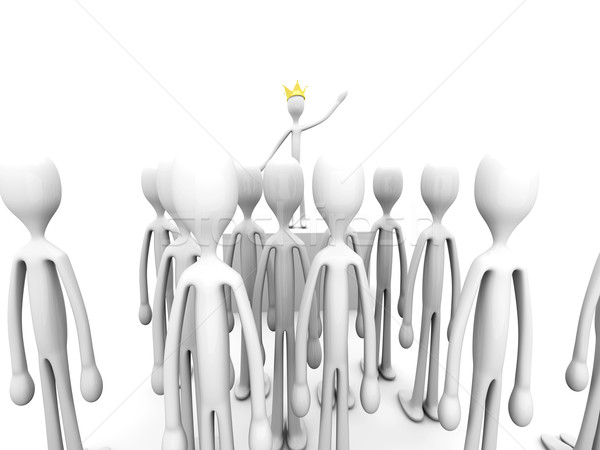 похвалу царя 3D оказанный иллюстрация изолированный Сток-фото © Spectral