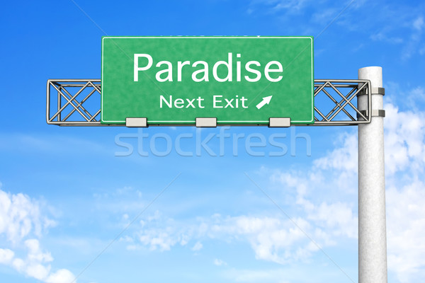 Highway Sign - Paradise		 Stock photo © Spectral