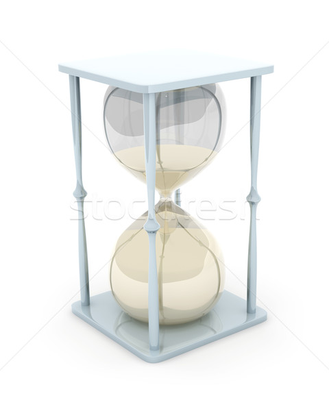 Clessidra illustrazione 3d vetro tempo retro stress Foto d'archivio © Spectral
