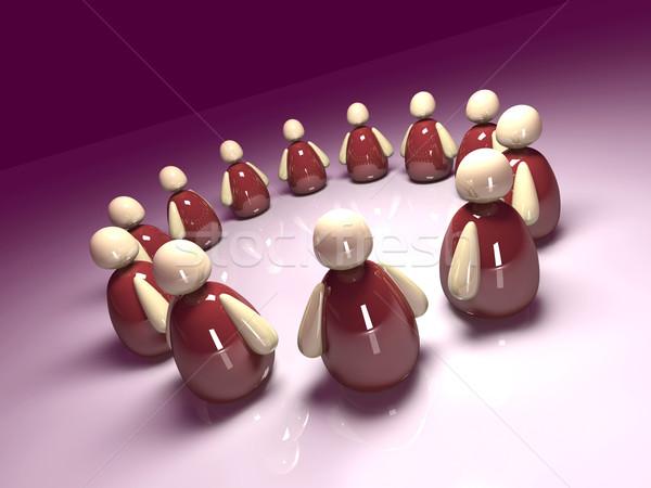 Ikona zespołu 3d ilustracji ikonowy zespołowej tłum Zdjęcia stock © Spectral