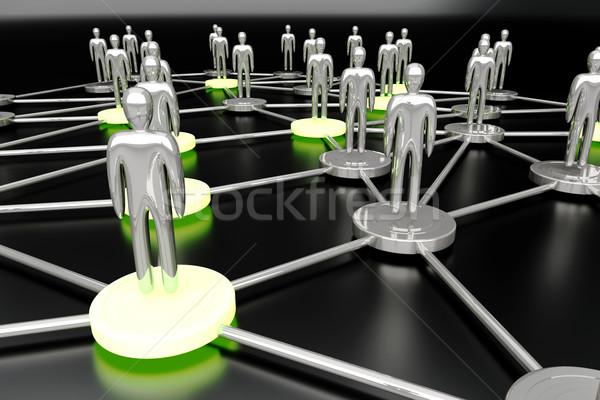 社会的ネットワーク 3D レンダリング 実例 サーバー ネットワーク ストックフォト © Spectral