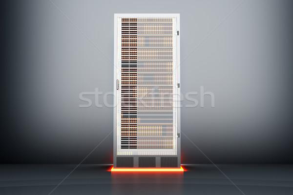 Metal servidor quarto escuro 3D prestados Foto stock © Spectral