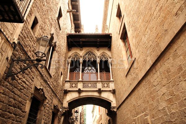 Gótico arquitetura Barcelona Espanha europa casa Foto stock © Spectral