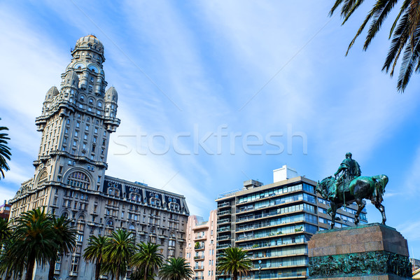 View over the Plaza Independencia in Montevideo  Stock photo © Spectral
