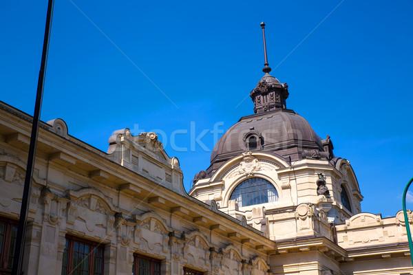 Stok fotoğraf: Budapeşte · Macaristan · Bina · sağlık · mavi · mimari