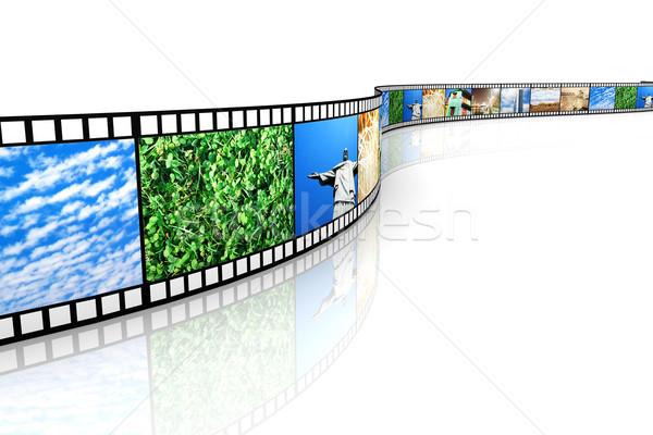 映画 写真 3D レンダリング 実例 孤立した ストックフォト © Spectral