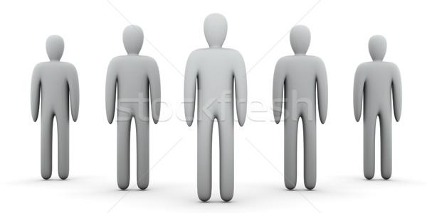 Anonyme personnes 3d illustration foule équipe travailleur Photo stock © Spectral