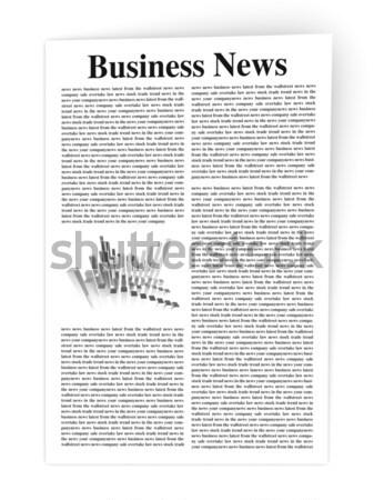 Stock photo: Business News