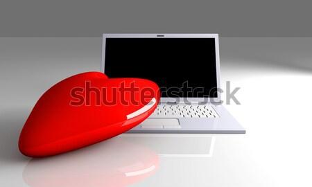 Amore illustrazione 3d 3D reso cuore Foto d'archivio © Spectral