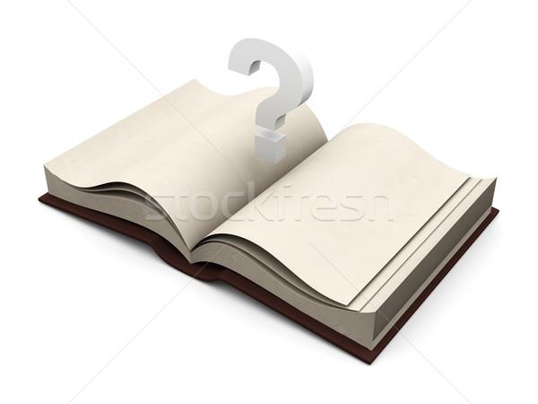 Tutorial libro 3D reso illustrazione sfondo Foto d'archivio © Spectral