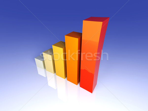 Tendance 3d illustration croissance bar Finance entreprise Photo stock © Spectral