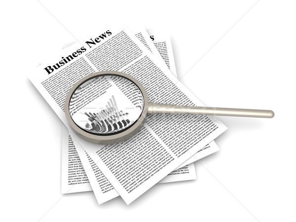 Business nieuws 3D gerenderd illustratie werk Stockfoto © Spectral
