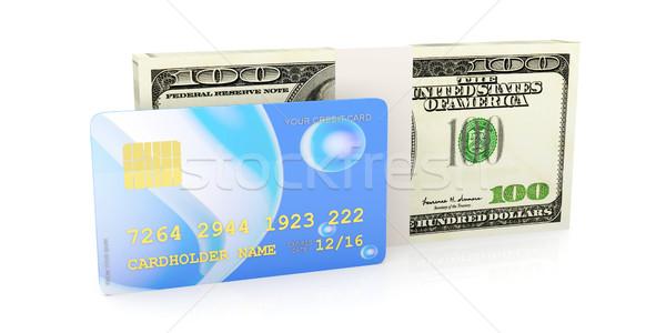 Kredi kartı nakit 3D render örnek yalıtılmış Stok fotoğraf © Spectral