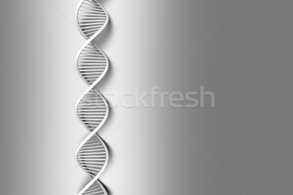 Dna symbolische Modell 3D gerendert Illustration Stock foto © Spectral