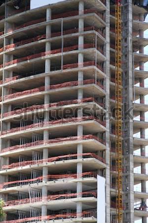 építkezés felhőkarcoló Buenos Aires modern építészet Argentína dél-amerika Stock fotó © Spectral