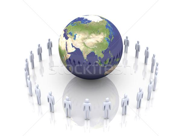 Globális csapat Ázsia 3D renderelt illusztráció Stock fotó © Spectral