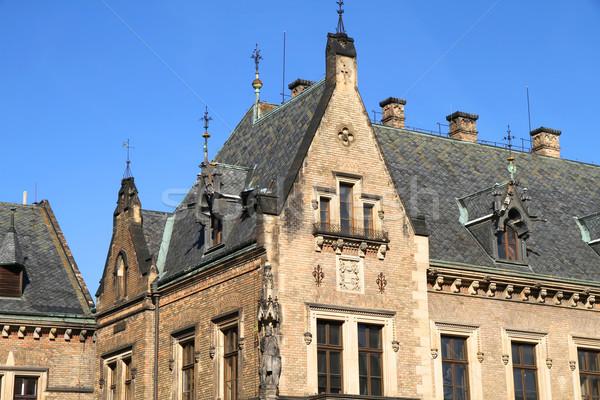 Arquitetura histórica Praga histórico edifício República Checa céu Foto stock © Spectral