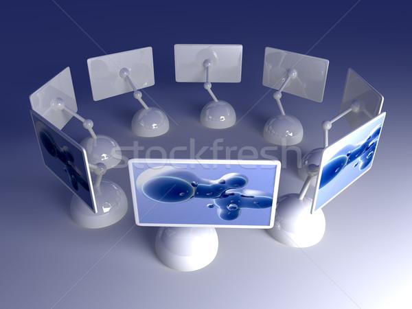 дизайна экране массив 3D оказанный иллюстрация Сток-фото © Spectral