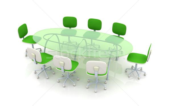Conferência tabela 3D prestados ilustração negócio Foto stock © Spectral