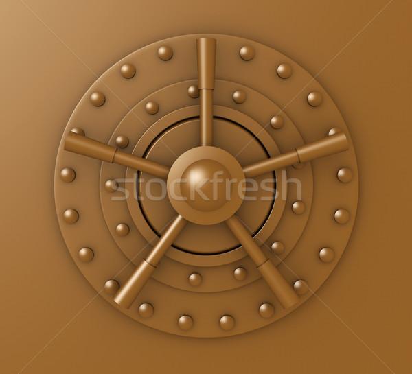 двери блокировка 3d иллюстрации безопасности банка ретро Сток-фото © Spectral