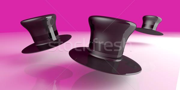 Cilindro clássico seis 3D prestados Foto stock © Spectral