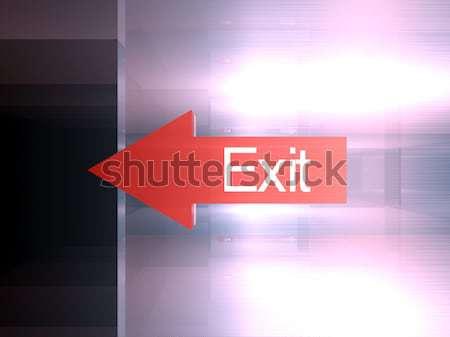 Kijárat erre 3d illusztráció ajtó háttér felirat Stock fotó © Spectral
