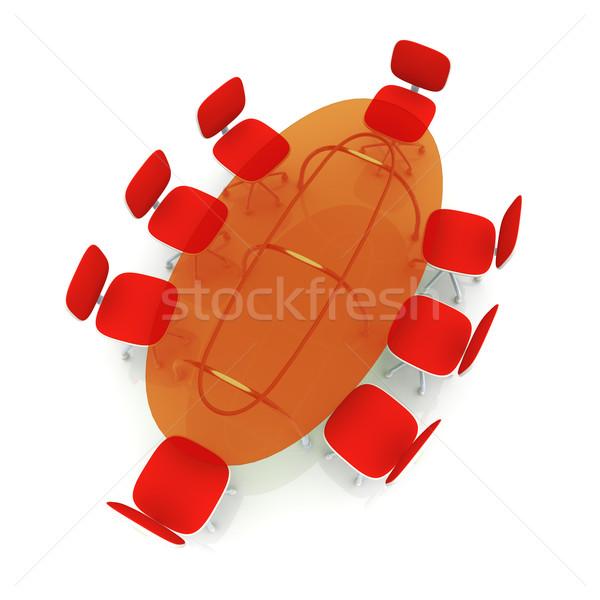 конференции таблице 3D оказанный иллюстрация бизнеса Сток-фото © Spectral
