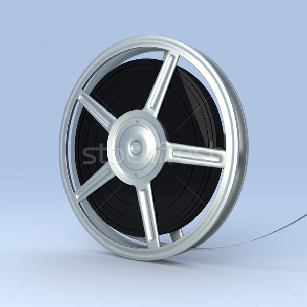 Rolo de filme 3D prestados ilustração filme quadro Foto stock © Spectral
