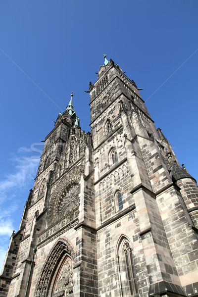 Photo stock: Cathédrale · saint · bâtiment · ville · porte · église