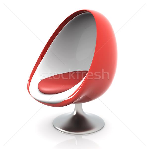 3D renderelt illusztráció terv szék bútor Stock fotó © Spectral