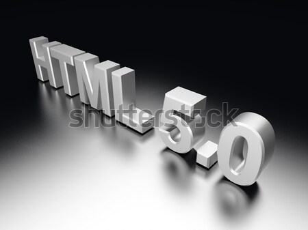 HTML 5.0	 Stock photo © Spectral
