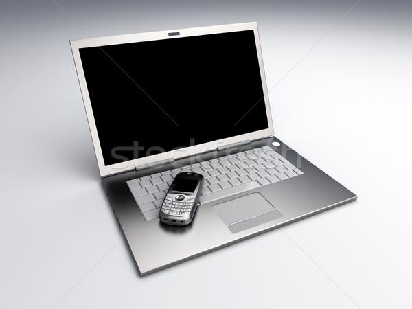 Mobiele communicatie mobiele telefoon laptop technologie 3D Stockfoto © Spectral