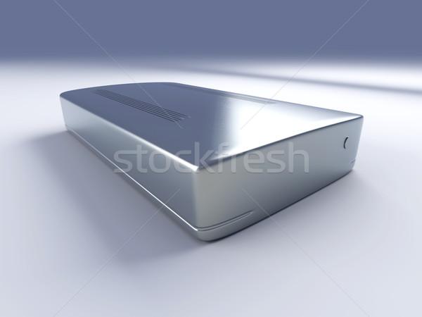 Harde schijf 3D gerenderd illustratie technologie metaal Stockfoto © Spectral